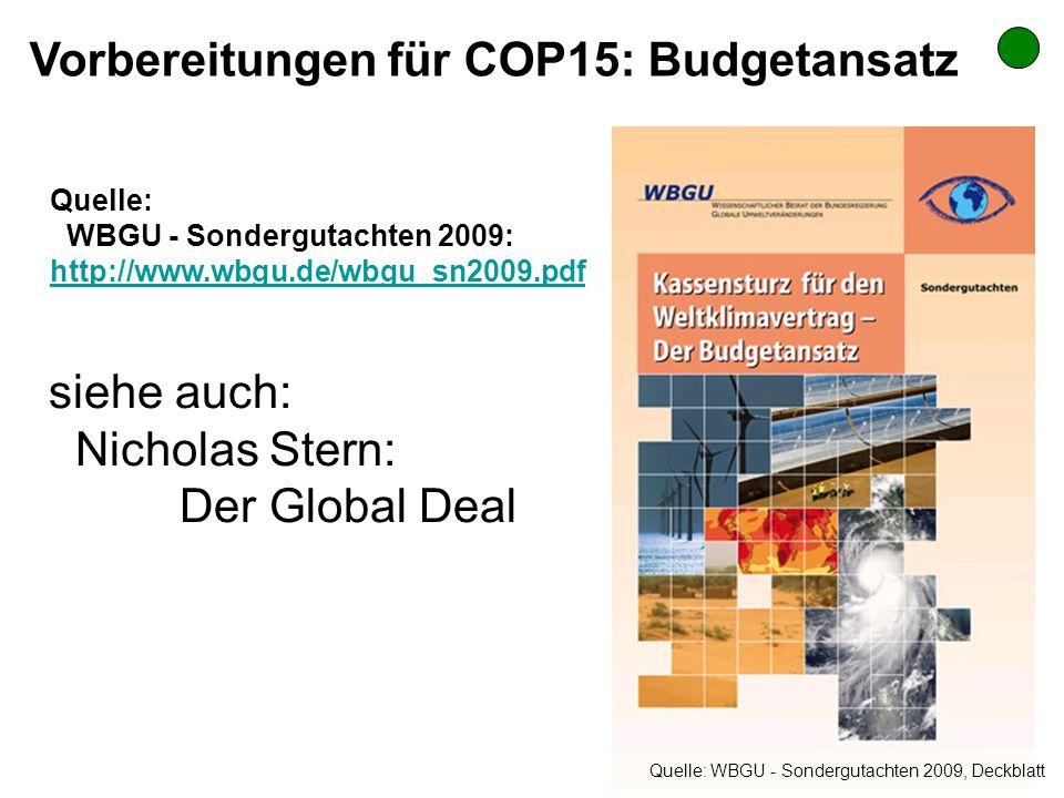 Vorbereitungen für COP15: Budgetansatz