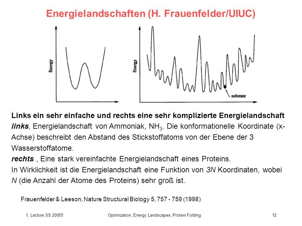 Energielandschaften (H. Frauenfelder/UIUC)