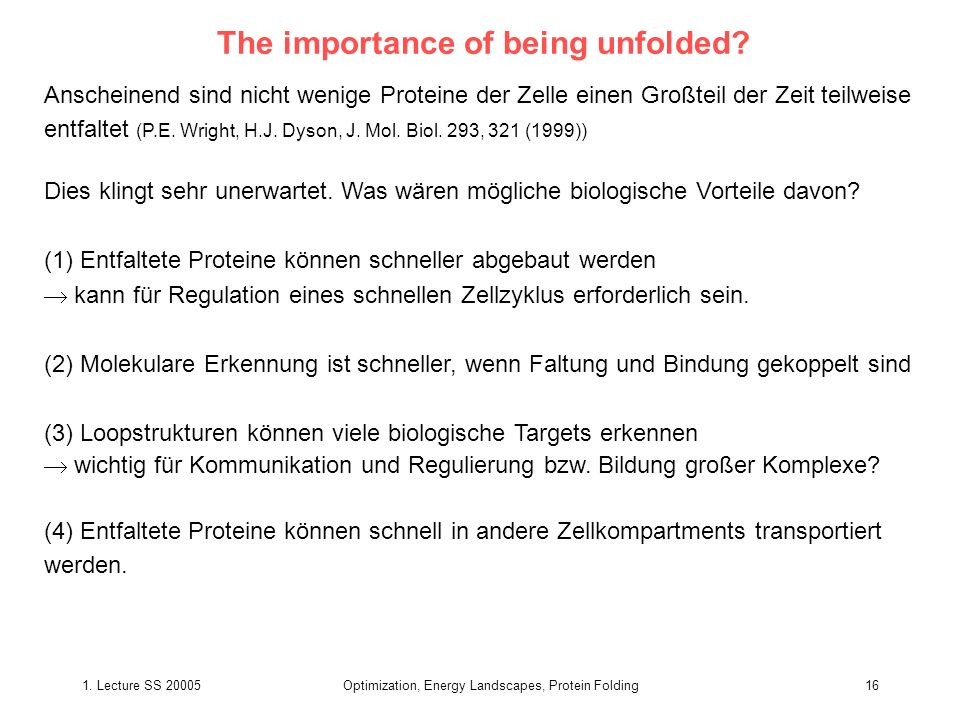 The importance of being unfolded