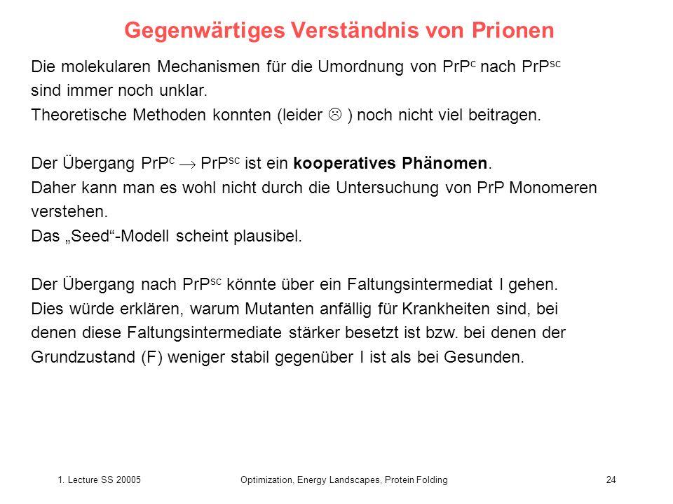 Gegenwärtiges Verständnis von Prionen