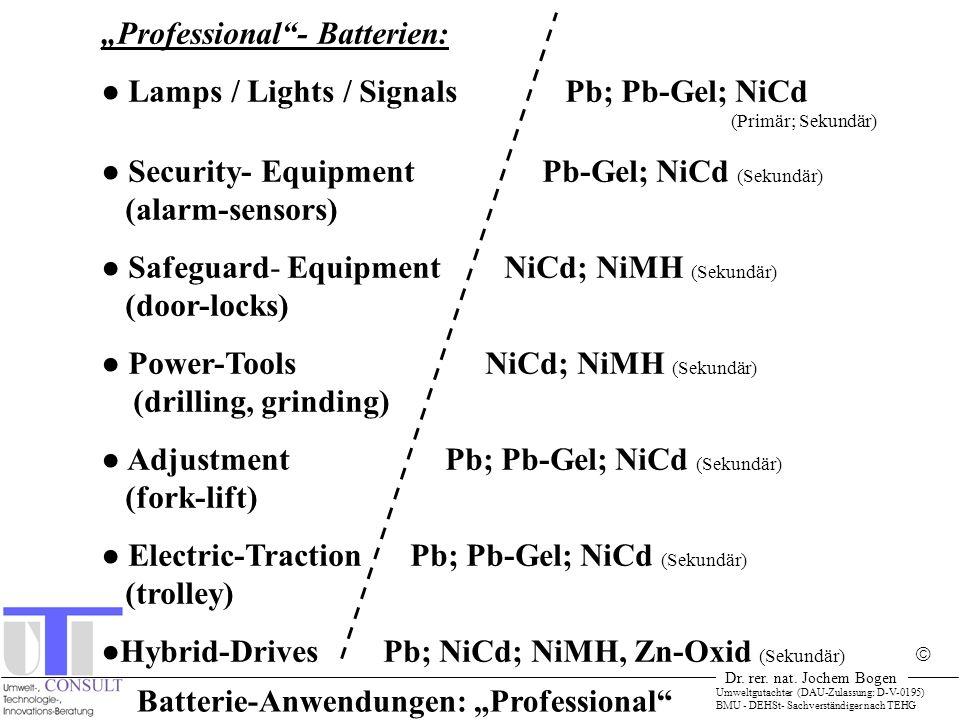 """Batterie-Anwendungen: """"Professional"""