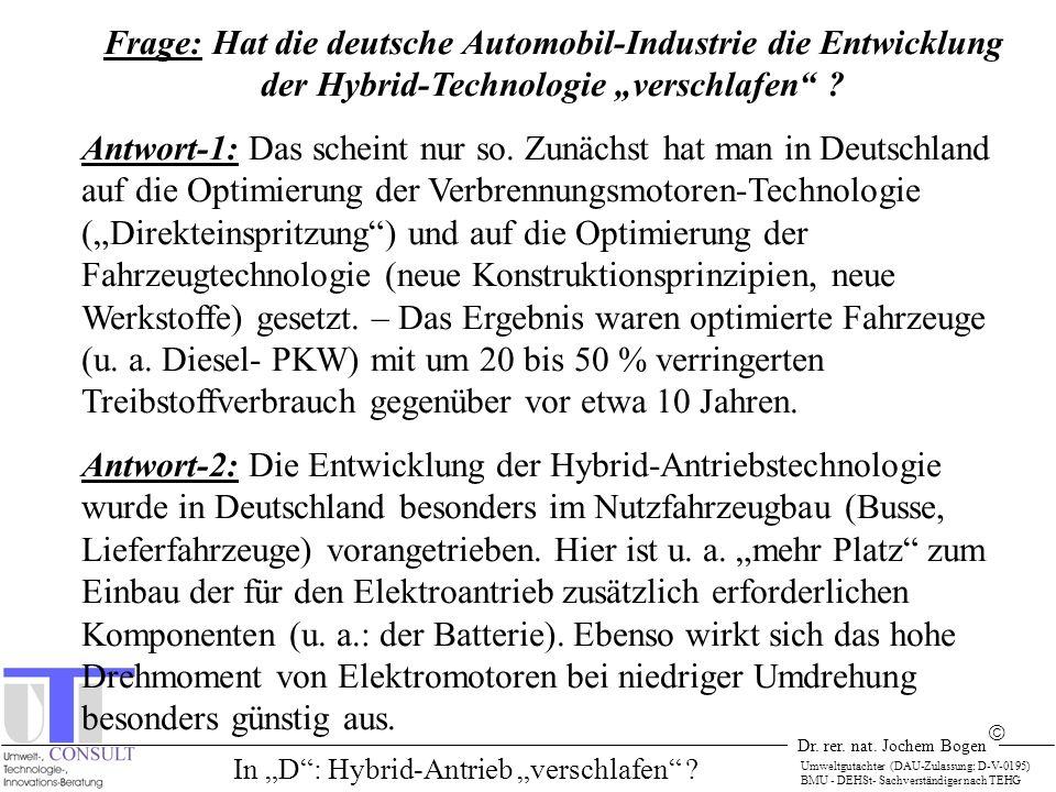 """In """"D : Hybrid-Antrieb """"verschlafen"""