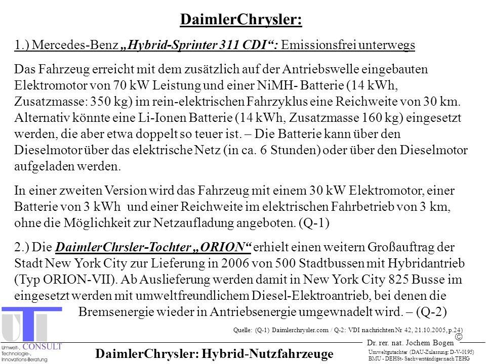 DaimlerChrysler: Hybrid-Nutzfahrzeuge