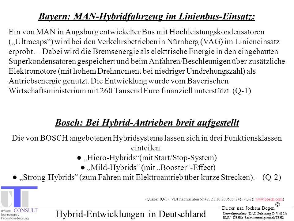 Bayern: MAN-Hybridfahrzeug im Linienbus-Einsatz: