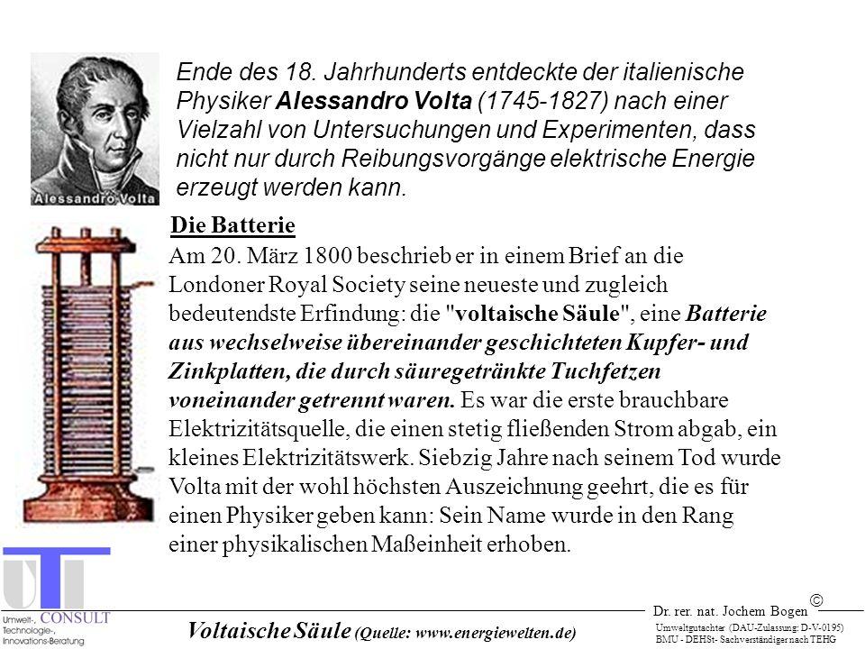 Voltaische Säule (Quelle: www.energiewelten.de)