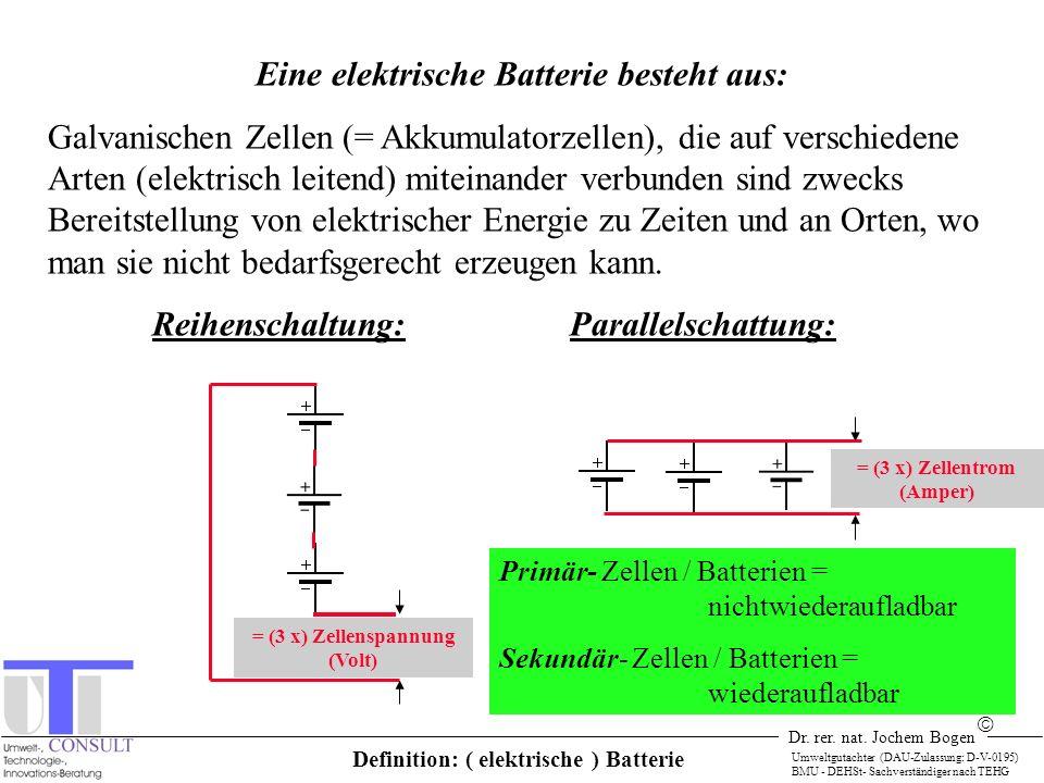 = (3 x) Zellentrom (Amper) Definition: ( elektrische ) Batterie