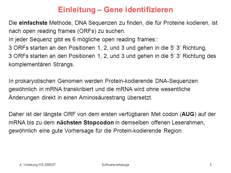 Einleitung – Gene identifizieren