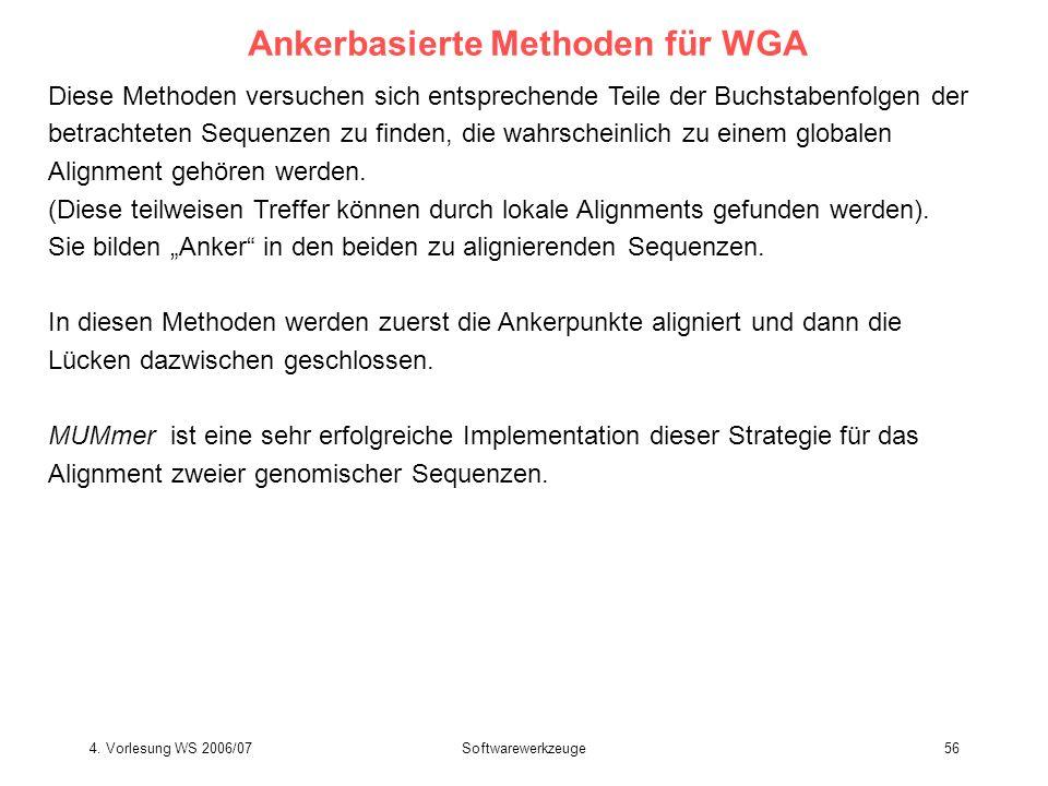 Ankerbasierte Methoden für WGA