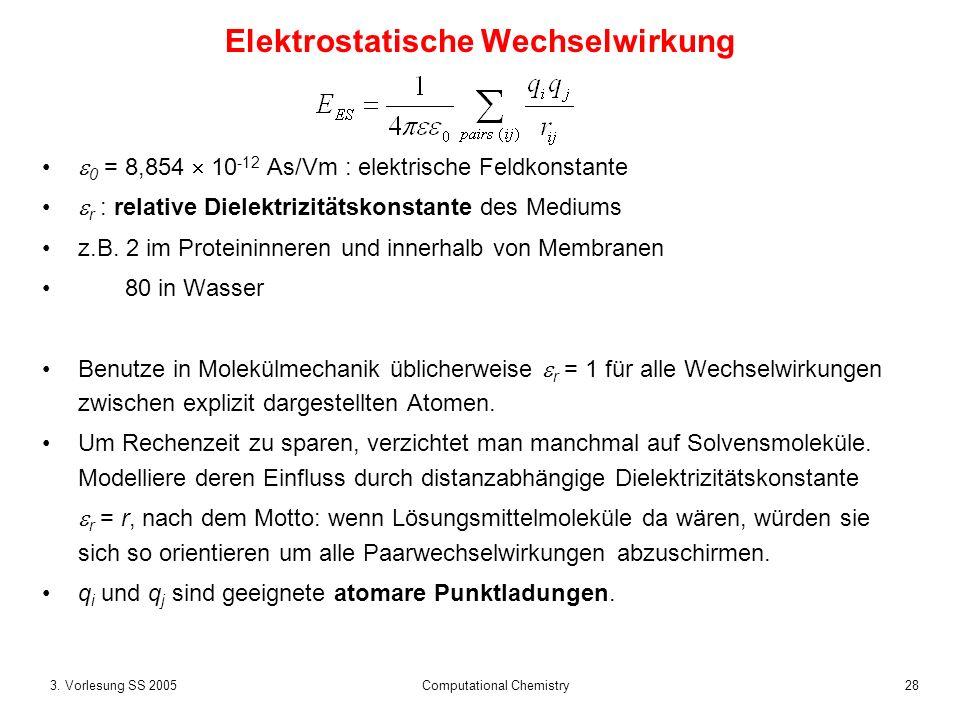 Elektrostatische Wechselwirkung