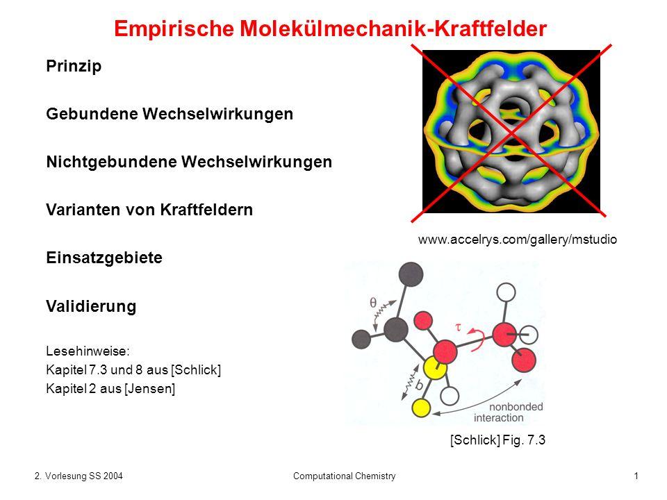 Empirische Molekülmechanik-Kraftfelder