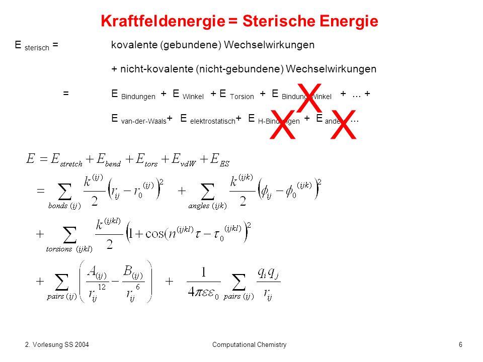 Kraftfeldenergie = Sterische Energie