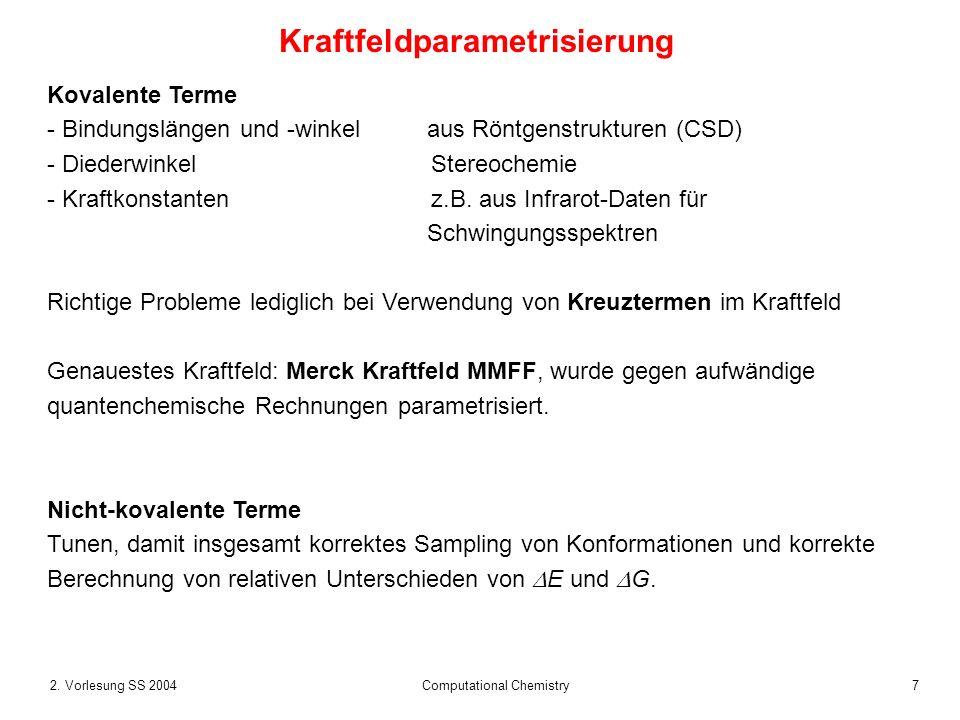 Kraftfeldparametrisierung