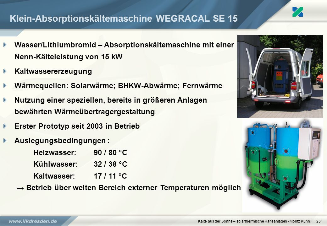 Klein-Absorptionskältemaschine WEGRACAL SE 15