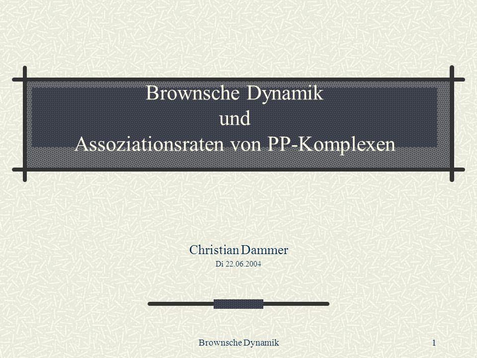 Brownsche Dynamik und Assoziationsraten von PP-Komplexen