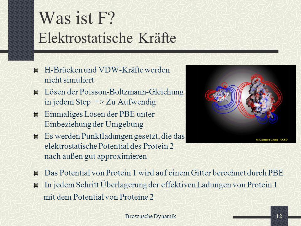 Was ist F Elektrostatische Kräfte