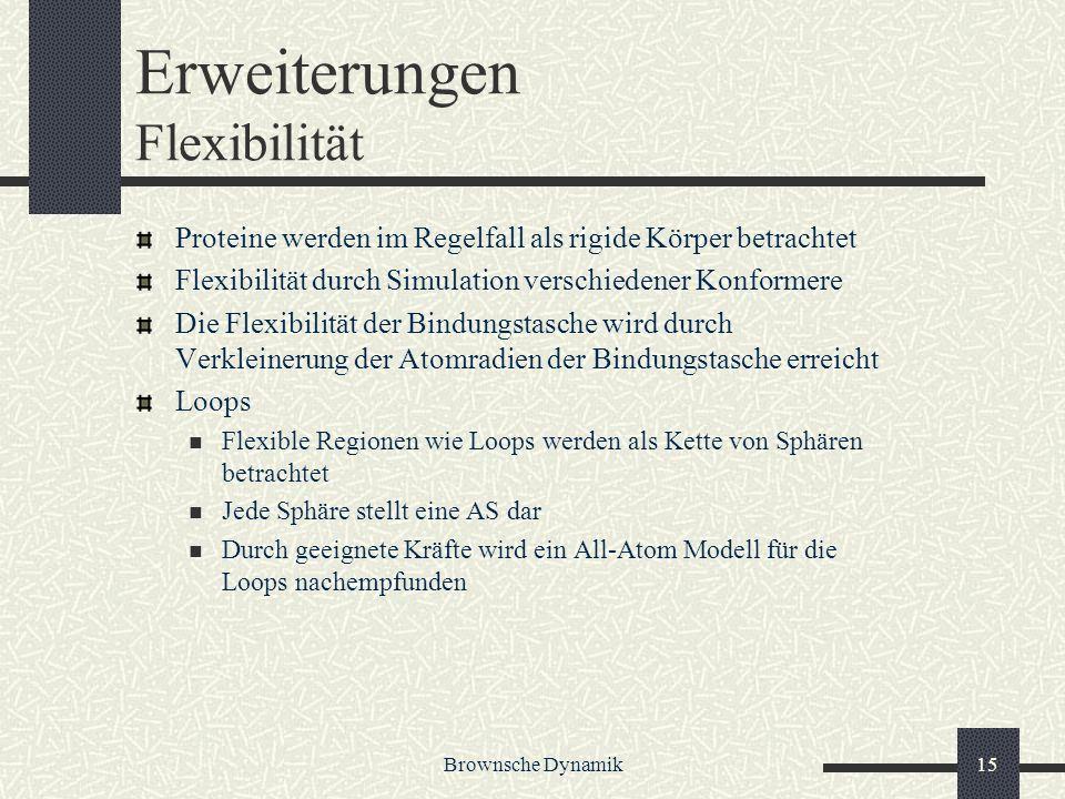 Erweiterungen Flexibilität