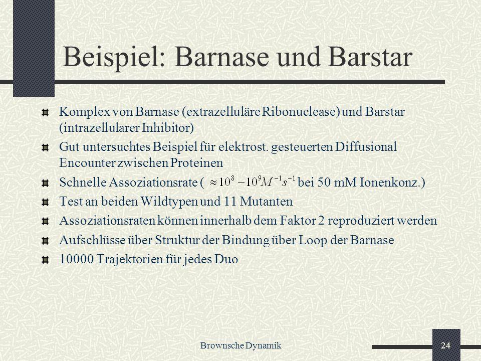 Beispiel: Barnase und Barstar