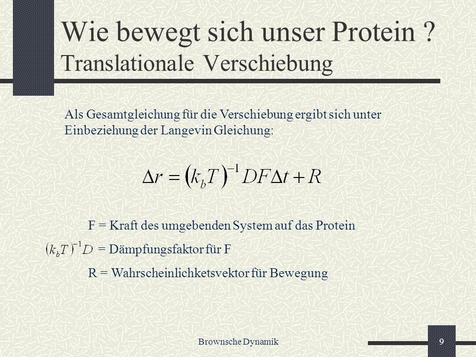 Wie bewegt sich unser Protein Translationale Verschiebung