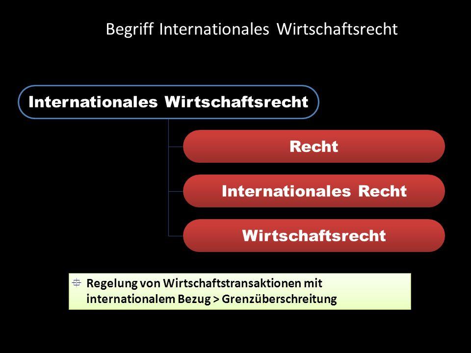 Begriff Internationales Wirtschaftsrecht