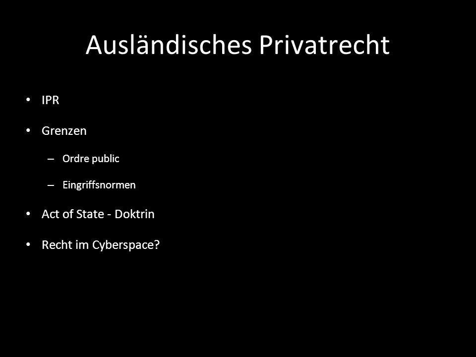 Ausländisches Privatrecht