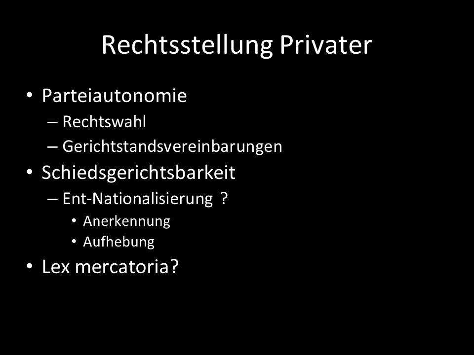 Rechtsstellung Privater