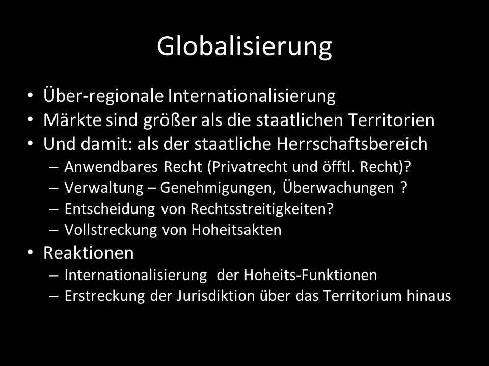 Globalisierung Über-regionale Internationalisierung