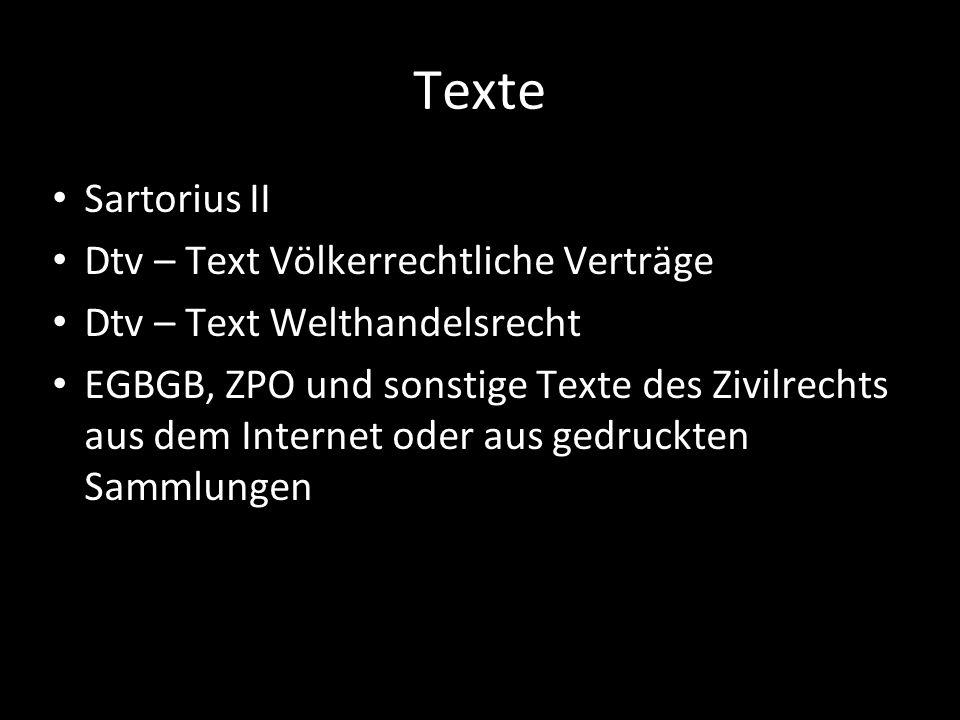 Texte Sartorius II Dtv – Text Völkerrechtliche Verträge
