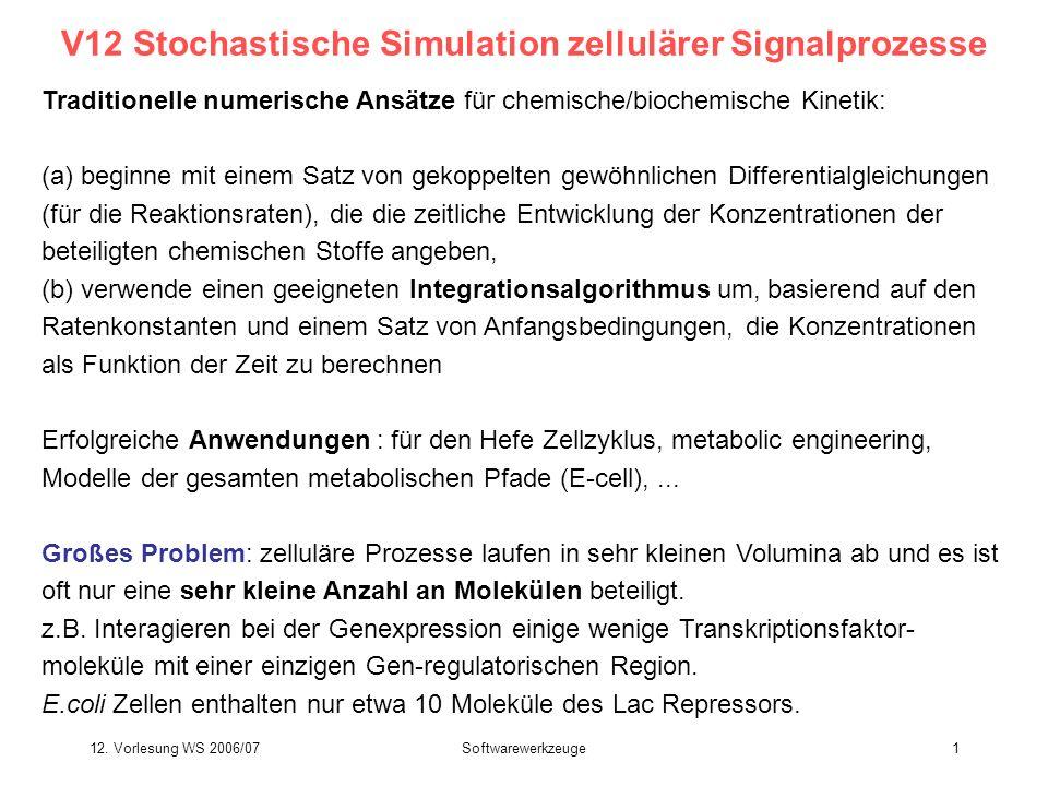 V12 Stochastische Simulation zellulärer Signalprozesse