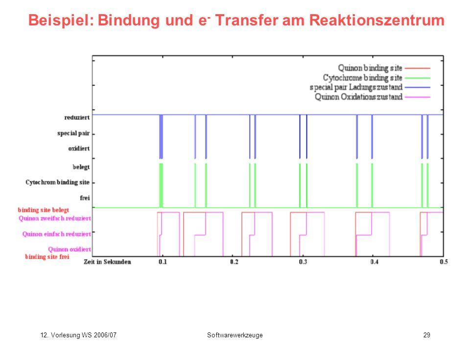 Beispiel: Bindung und e- Transfer am Reaktionszentrum