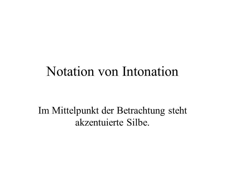 Notation von Intonation