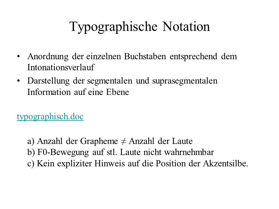 Typographische Notation