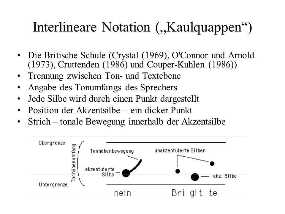 "Interlineare Notation (""Kaulquappen )"
