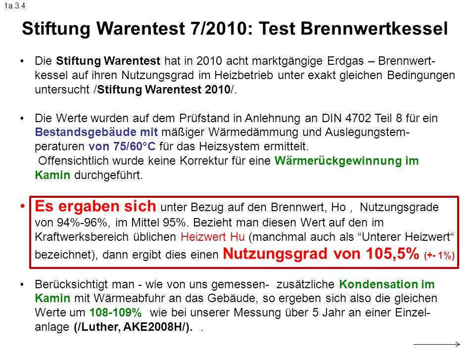Stiftung Warentest 7/2010: Test Brennwertkessel