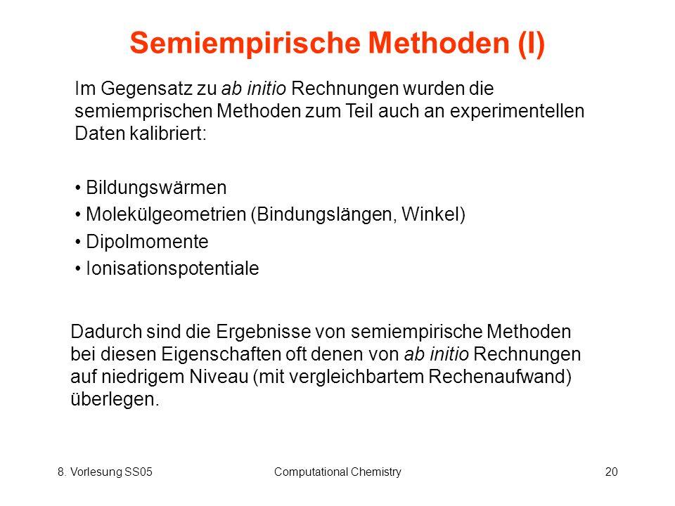 Semiempirische Methoden (I)