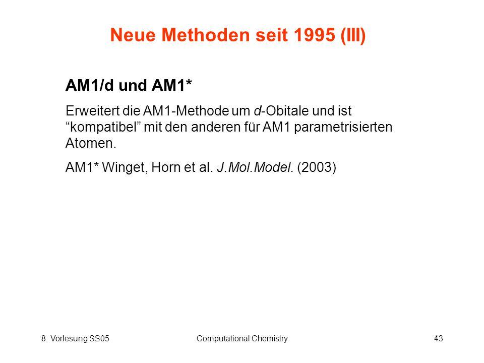 Neue Methoden seit 1995 (III)