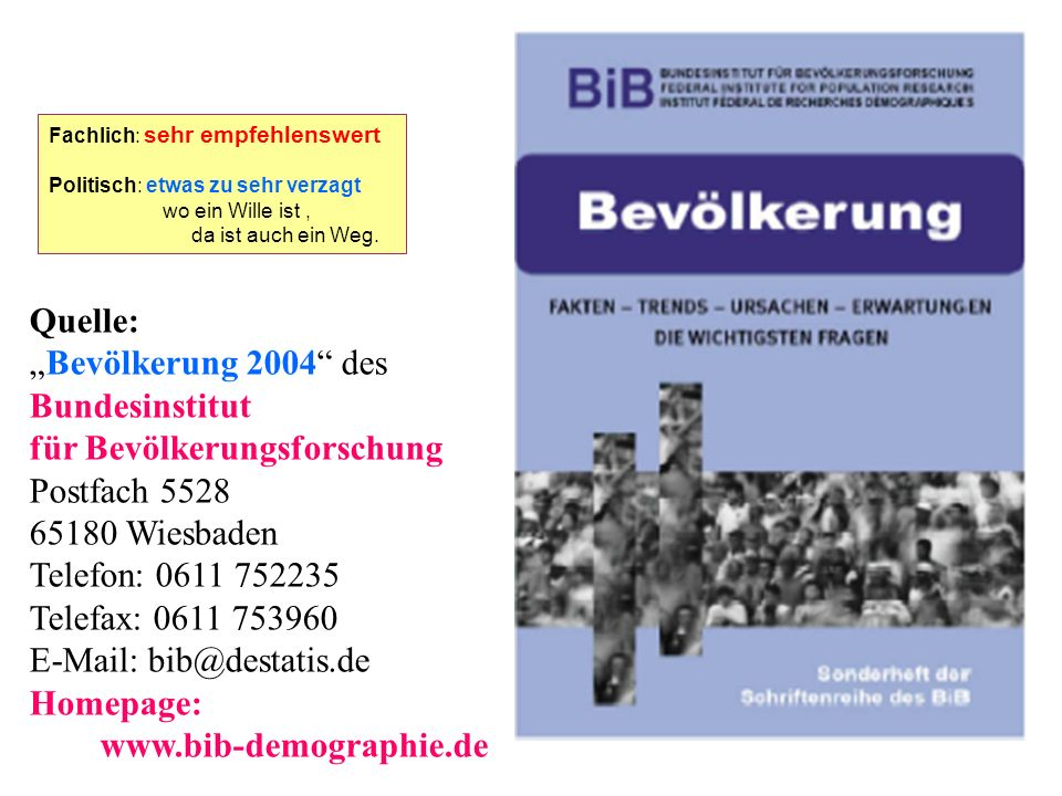 E-Mail: bib@destatis.de Homepage: www.bib-demographie.de