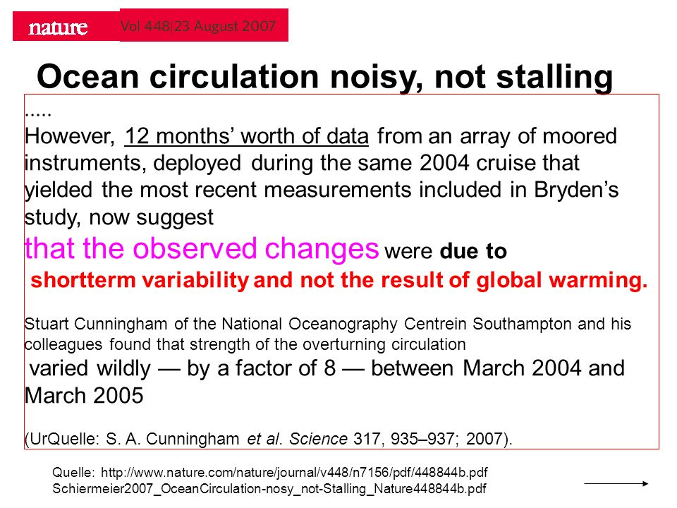 Ocean circulation noisy, not stalling