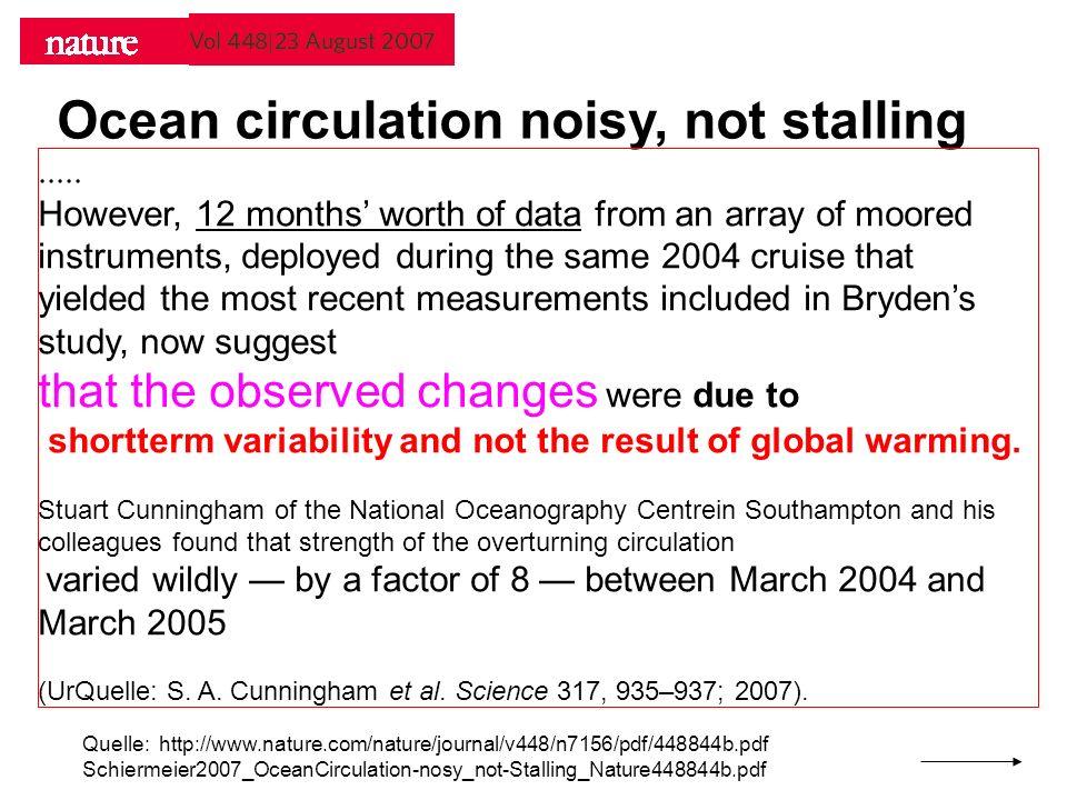 Ocean circulation noisy, not stalling