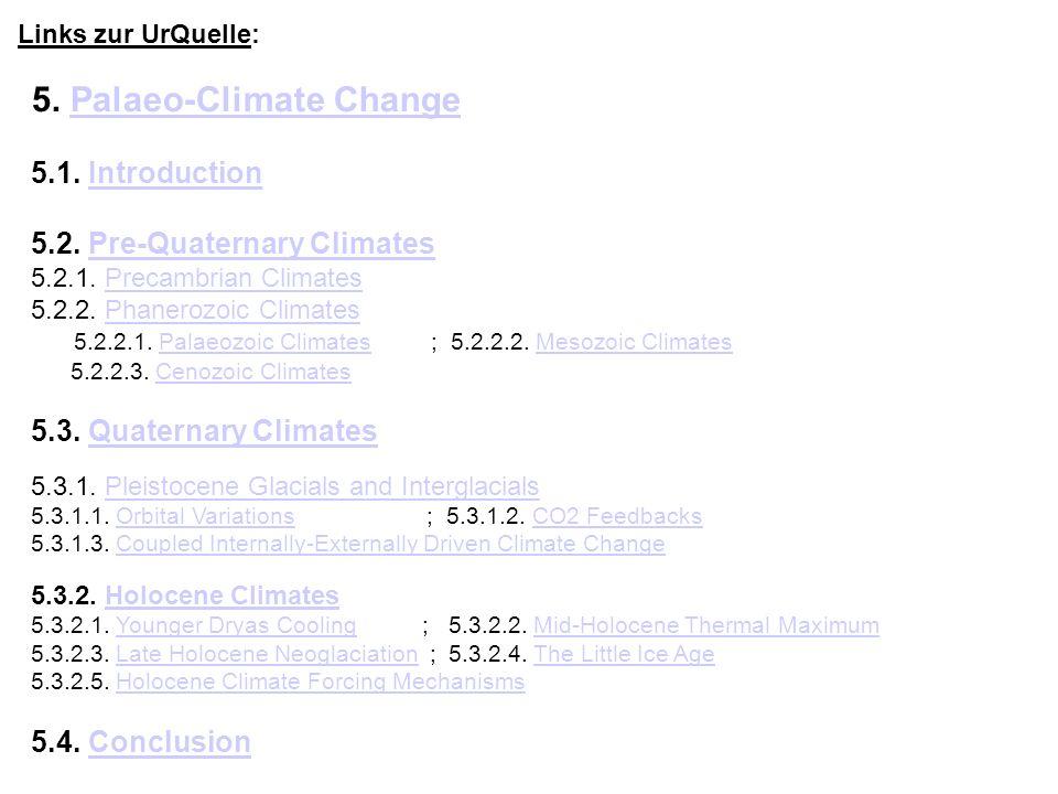 5. Palaeo-Climate Change
