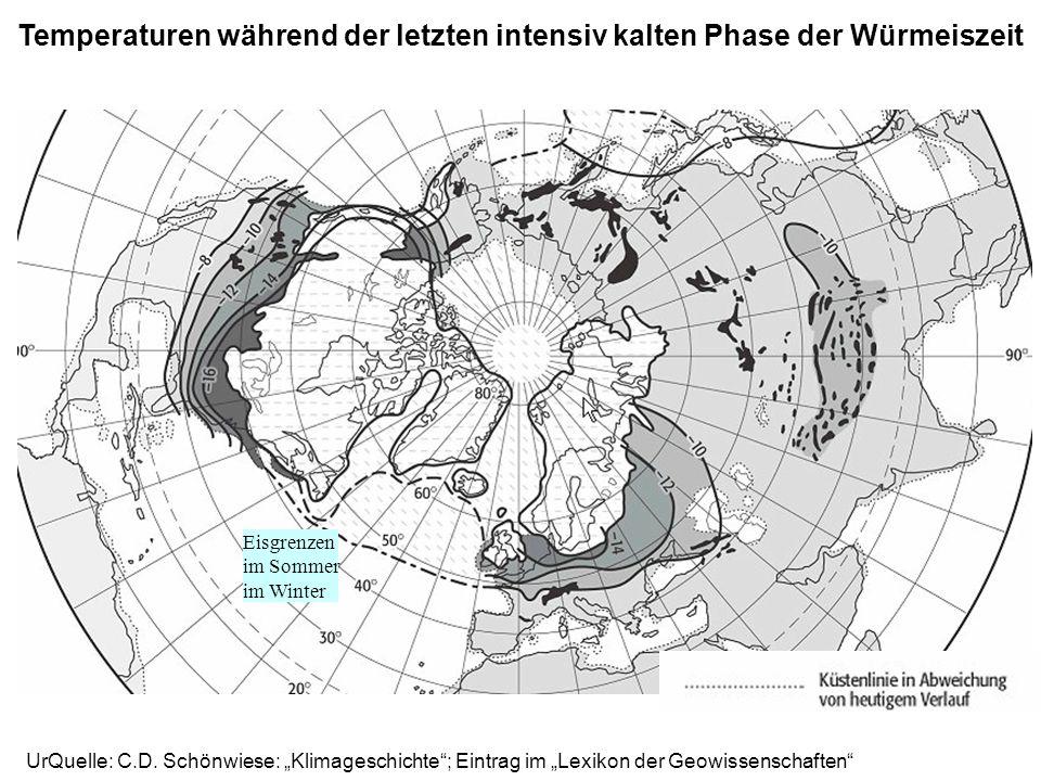 Temperaturen während der letzten intensiv kalten Phase der Würmeiszeit