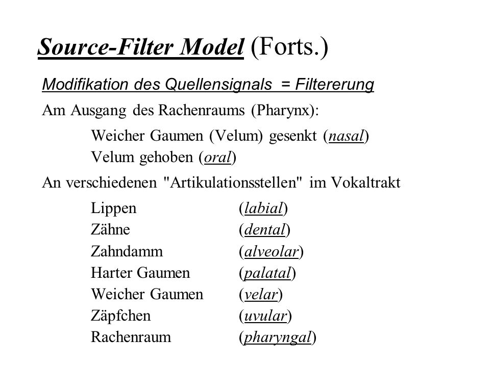 Source-Filter Model (Forts.)