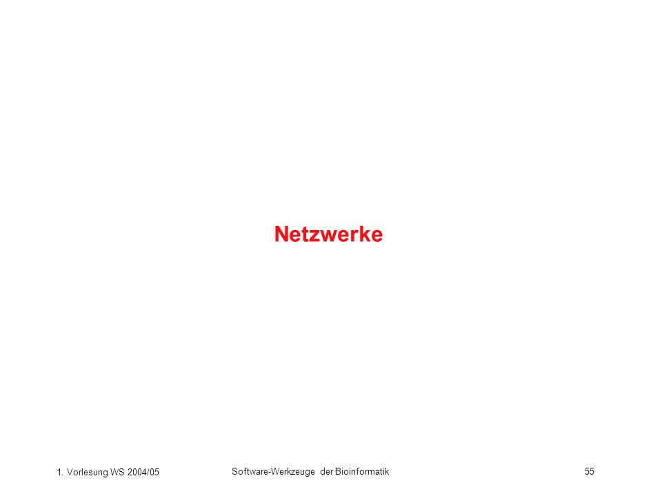 Netzwerke 1