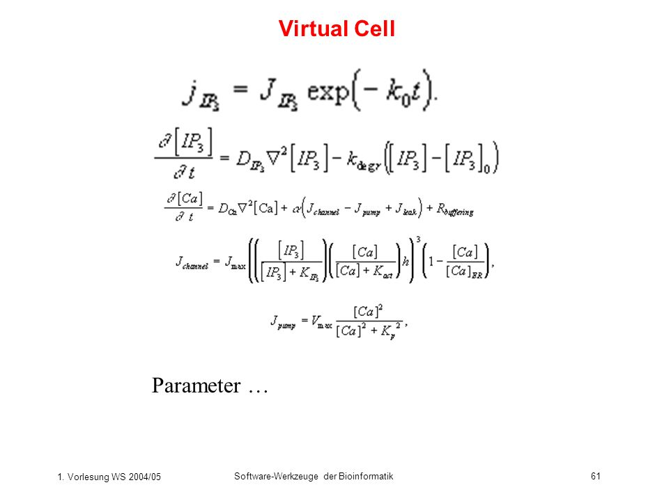 Virtual Cell Parameter …