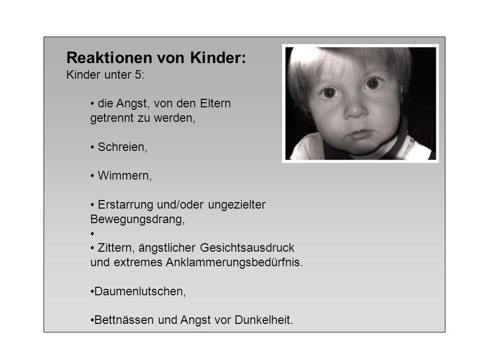 Reaktionen von Kinder: