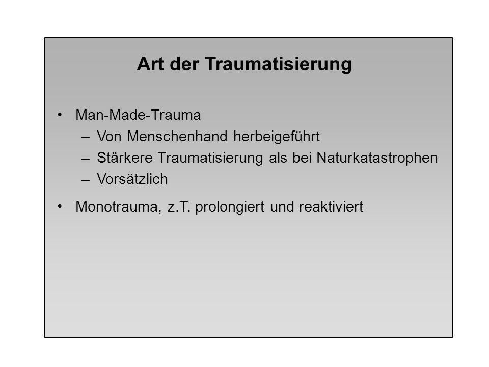 Art der Traumatisierung