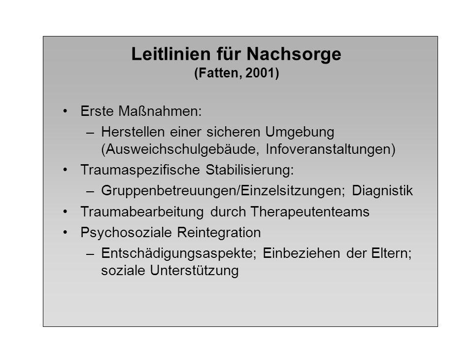 Leitlinien für Nachsorge (Fatten, 2001)