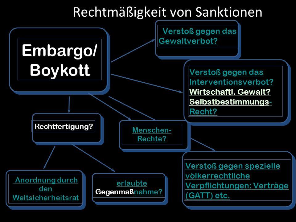 Rechtmäßigkeit von Sanktionen
