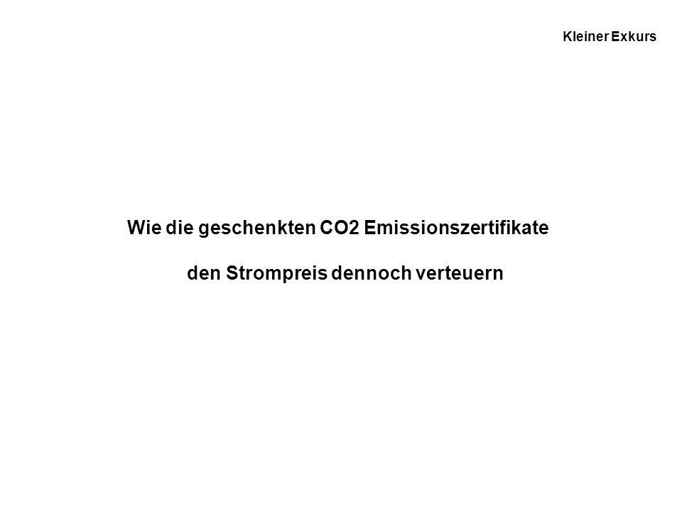 Wie die geschenkten CO2 Emissionszertifikate
