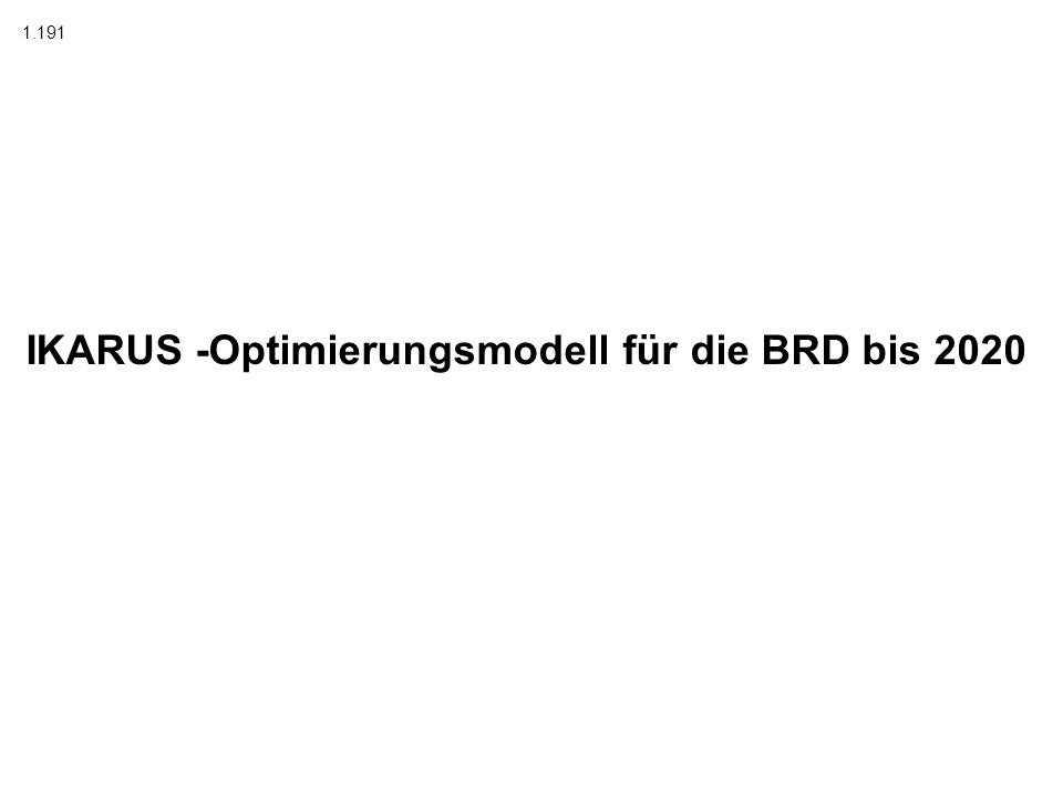IKARUS -Optimierungsmodell für die BRD bis 2020