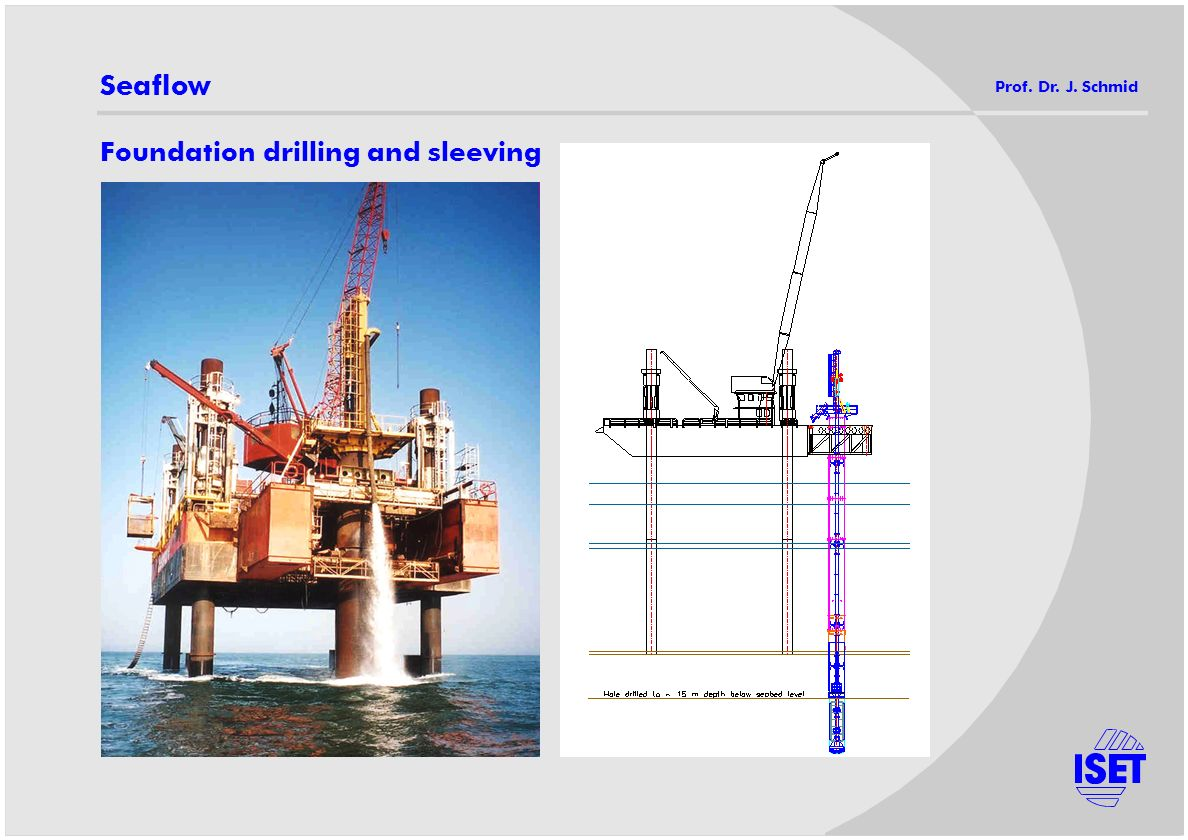 Seaflow Foundation drilling and sleeving
